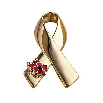 Frauen Brosche Band mit roten Mohn Corsage Aids Symbol Brosche Pin