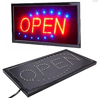 Neon signs open signs for business store with switch us plug m04