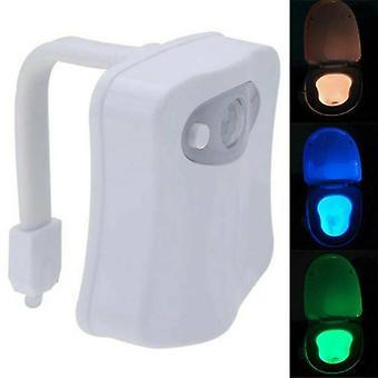 Nat lys LED Toilet Badeværelse Bevægelse Aktiveret Seat Sensor Lamp Skiftende Farve