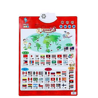 Gráfico de parede de máquina de aprendizagem Gráfico eletrônico Alfabeto Inglês Brinquedo pré-escolar