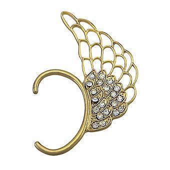 Gold Tone Angel Wing Rhinestone Ear Cuff