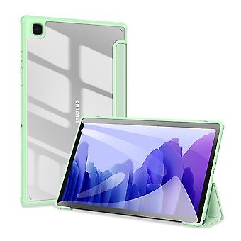 Case For Samsung Galaxy Tab A7 2020 10.4 (t500-t505),folio Trifold Stand Smart Cover With Detachable Slim Hard Shell Transparent Back Cover - Green