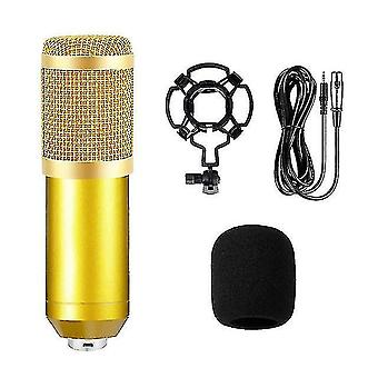 Microphones bm800 condenser microphone professional live podcasting microphone with sound card for youtube
