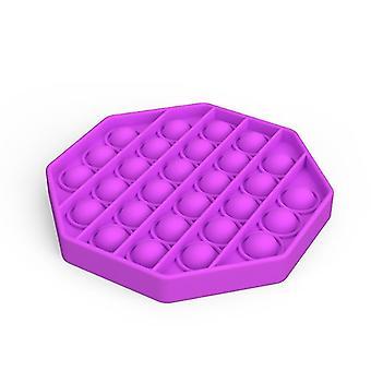 Push pops bolla sensoriale toy per bisogni speciali autismo anti stress (Ottagono - Viola)