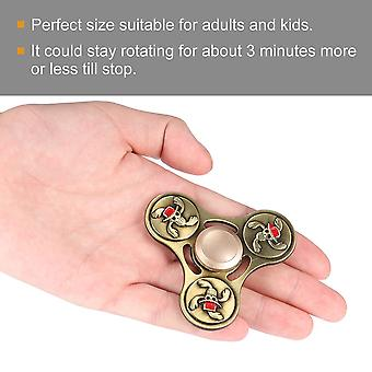 Tri-spinner Metal Finger Spinner Toy Hand Spinner Kids Adults Relieve Stress