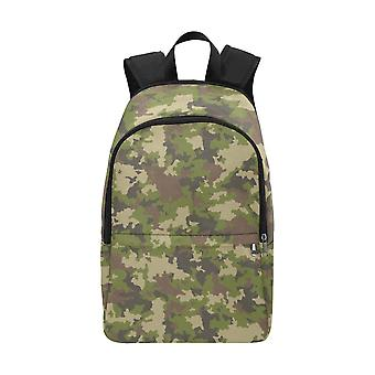 Laptop backpack (nylon) - green camouflage