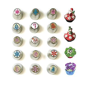 Christmas Russian Icing Piping Cakecupcake Decorating Tipskit Set Party Supplies
