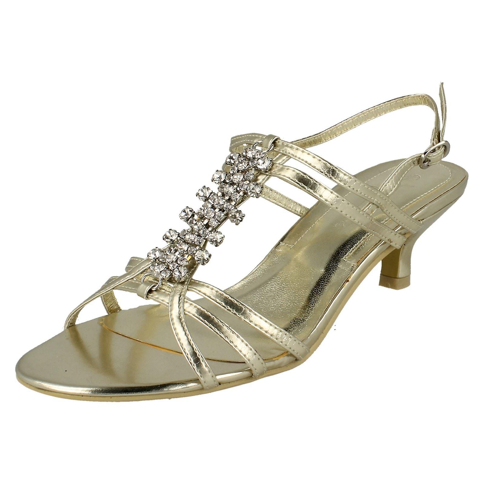 Panie plama na środku pięty Diamante wykończenia kostki pasek sandały SdTwQ