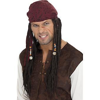 Πειρατής περούκα Τζακ πειρατή πειρατής σπουργίτι περούκα