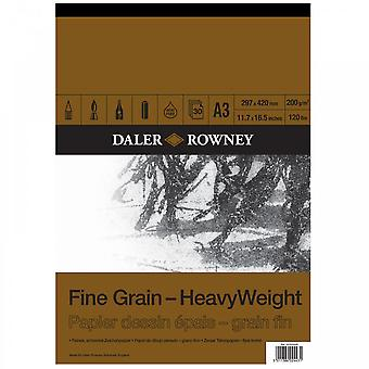 Daler Rowney Fine Grain Heavyweight Gummed Pad A3