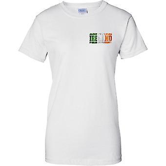 Irlanti Grunge maan nimi lippu vaikutus - Irlannin Tricolour - hyvät rinnassa Design t-paita