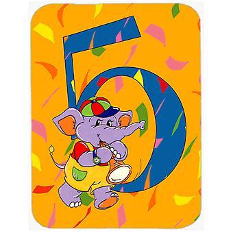 Happy 5th Birthday Age 5 Glass Cutting Board Large