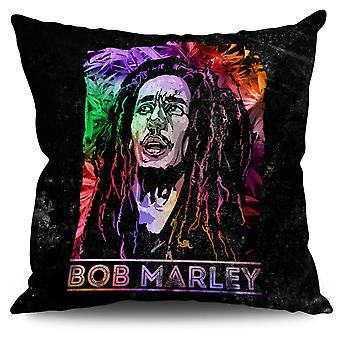 Bob Marley Legend Linen Cushion 30cm x 30cm | Wellcoda