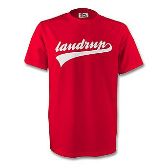 Michael Laudrup Denmark Signature Tee (red)