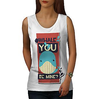 Sen Mine Funny Women WhiteTank Top | Wellcoda