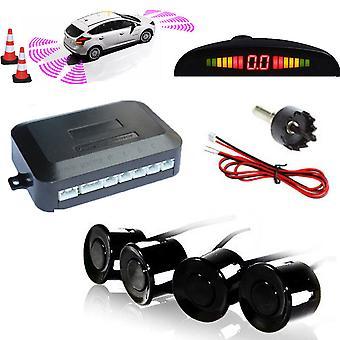 Kabalo Car Vehicle Parking Rear Reverse 4 Sensors Kit Buzzer Radar LED Display Audio Alarm