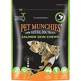 Pet Munchies Salmon Chews Large 125g, pack of 6