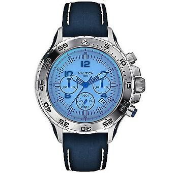Nautica mens watch NAI19535G reloj de pulsera cuero