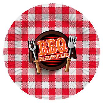 Plate party platter plate BBQMaster grill party birthday 27 cm diameter 8 pieces