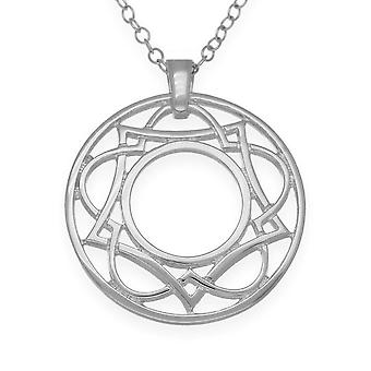 Sterling Silver Traditional Scottish Celtic Eternity Knotwork Hand Crafted Necklace Pendant - P977