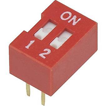 DIP-switch antal stift 2 Slide-sorts TRU komponenter DSR-02 1 dator
