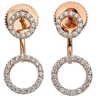 Øredobber øredobber 925 sterlingsølv gull belagt med kubikk zirconia øreringer