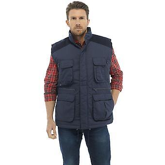 Tom Franks Mens Country Clothing Padded Bodywarmer - Navy - L