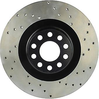 StopTech 128.33073L Sport Cross Drilled Brake Rotor (Front Left), 1 Pack