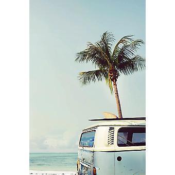 Vintage camper van juliste