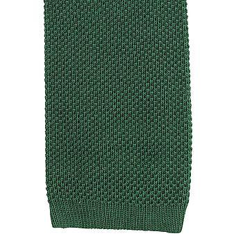 KJ Beckett Plain Cotton Tie - Green