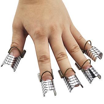 TRIXES X10 herbruikbare Nail Art vormt maken Frans Tips voor Salon of thuisgebruik