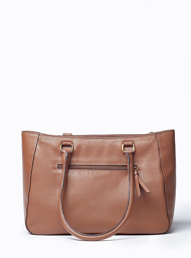 Viver Leather Shoulder Bag Tutta Brown