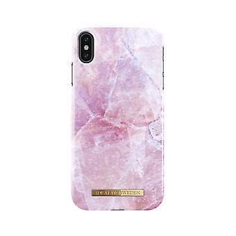 iDeal Of Sweden iPhone XS Max Marble Shell-Pilion Pink