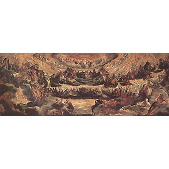 Sketch for Paradise in the Sala del, Jacopo Robusti Tintoretto