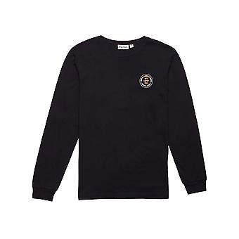 Rhythm Stamp Long Sleeve T-Shirt in Black