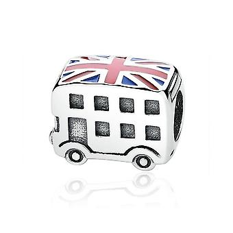 Charm in argento Sterling bus di Londra