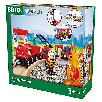 Brio World Fire & Rescue - Rescue Fire Fighter Set