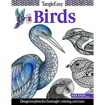 Tangleeasy Birds - Design Templates for Zentangle - Colouring - and Mo
