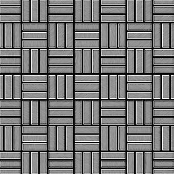 Fém mozaik rozsdamentes acélötvözet Basketweave-S-S-B