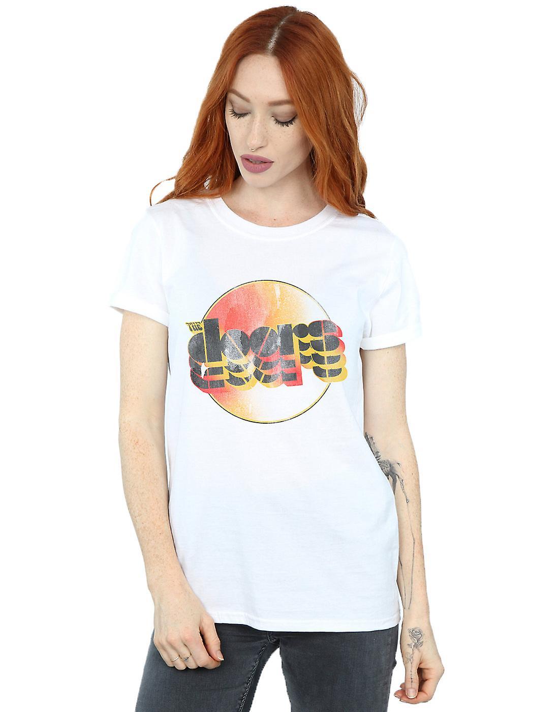The Doors Women's Sunset Logo Boyfriend Fit T-Shirt