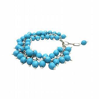 Divertimento indossando elegante mozzafiato Turquiose perline braccialetto