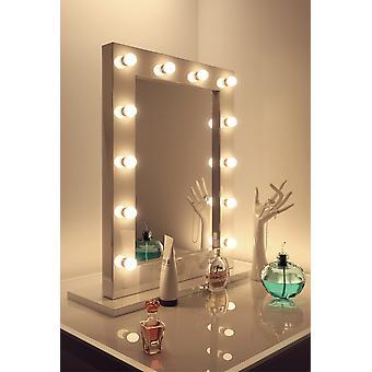 Diamond X Gloss White Hollywood Make-up Audio Spiegel LED k113CWaud
