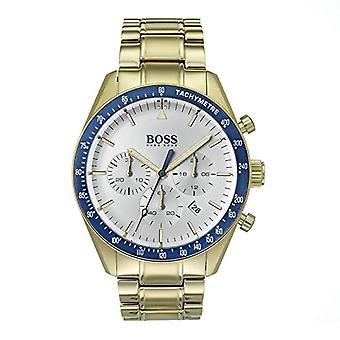 Hugo Boss Chronograph Quarz Herrenuhr mit Gold vergoldet Armband 1513631