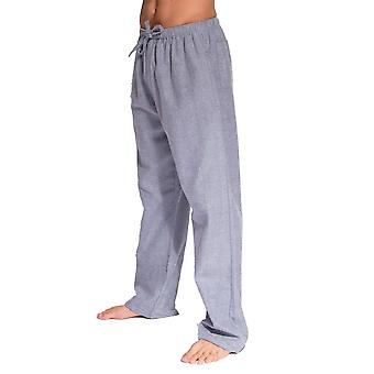 British Boxers Ash Grey Herringbone Men's Pyjama Trousers