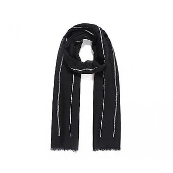 Intrigue Womens/Ladies Abstract Line Glitter Scarf
