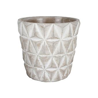 Concrete Pot 14 X 14 X 13 Cm Round Tapered Pyramid Design