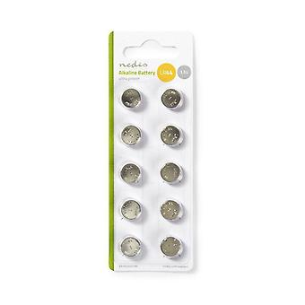 Alkaline LR44 coin Cell batteries, 10 pcs