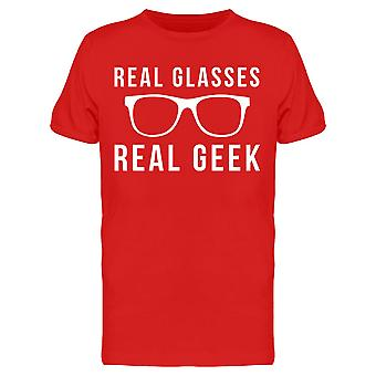 Funny Real Glasses Real Geek Graphic Men's T-shirt