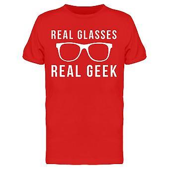 Funny Real Glasses Real Geek Graphic Men es T-Shirt