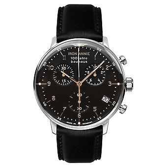 Iron Annie Bauhaus | Chrono | Black Dial | Black Leather 5096-2 Watch